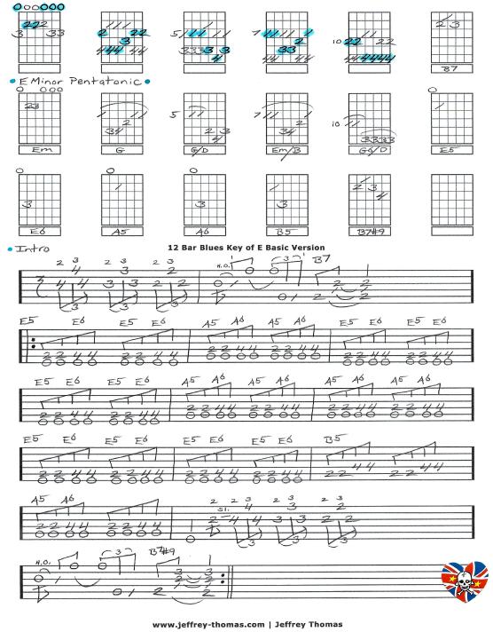 Guitar guitar tabs 12 bar blues : Blues Archives - jeffrey-thomas.com