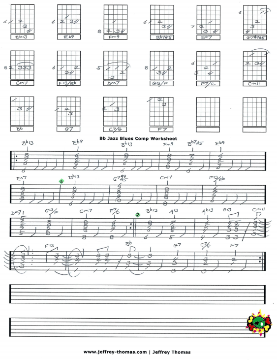 Free Jazz Guitar Tab