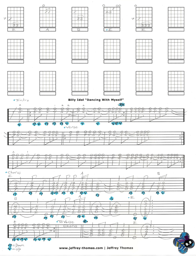 Billy Idol Guitar Tab