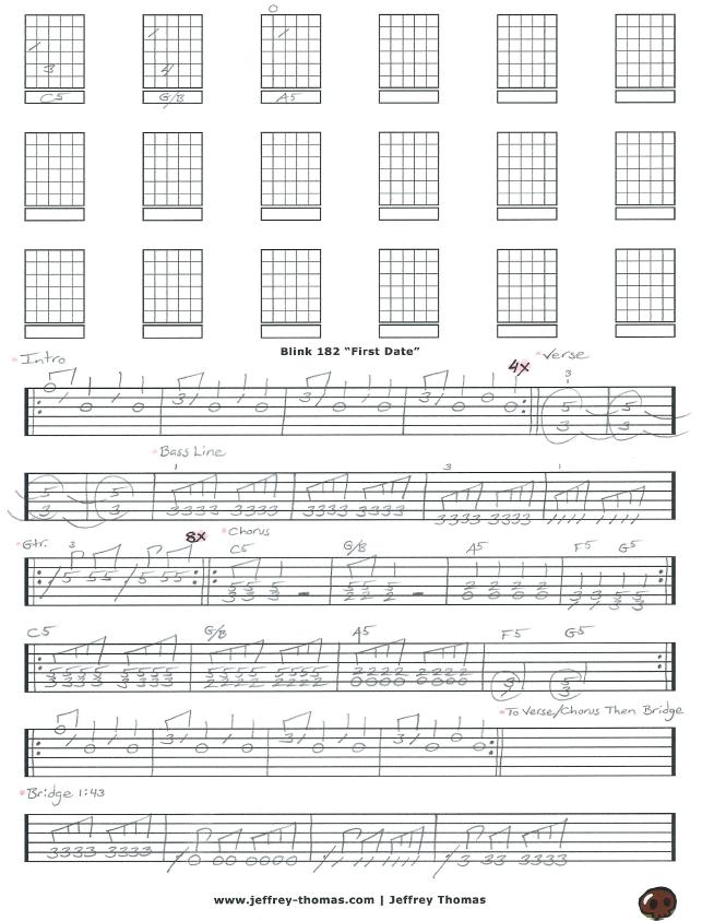 Blink 182 Guitar Tab
