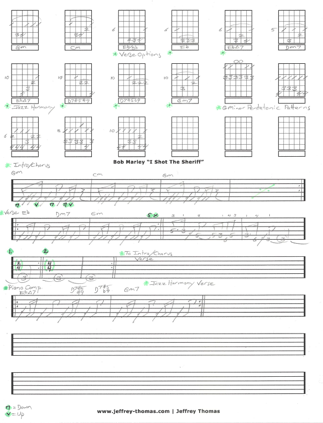 Free Bob Marley Guitar Tab