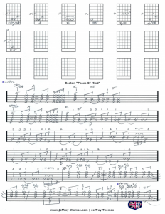 Free Boston Guitar Tab For Peace Of Mind