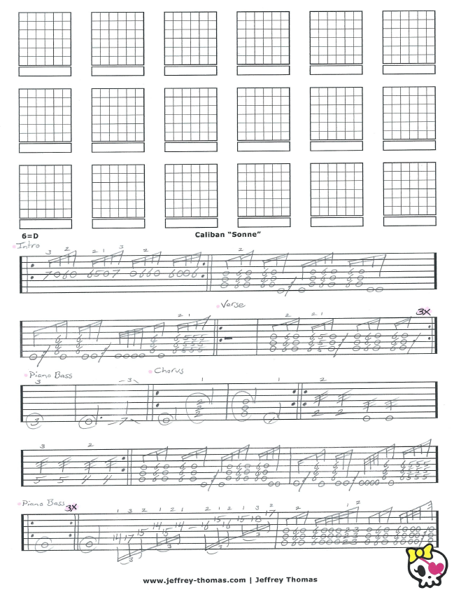 Caliban Sonne Guitar Tab