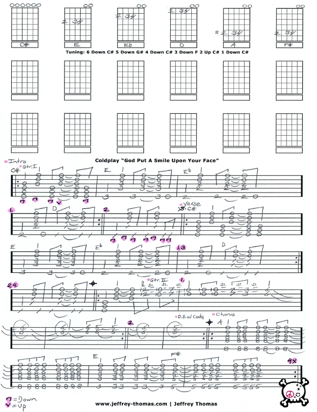 Free Coldplay Guitar Tab