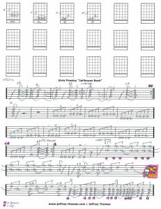 Elvis Presley Jailhouse Rock Free Guitar Tab