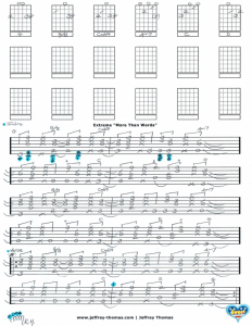 Extreme More Than Words Free Guitar Tab