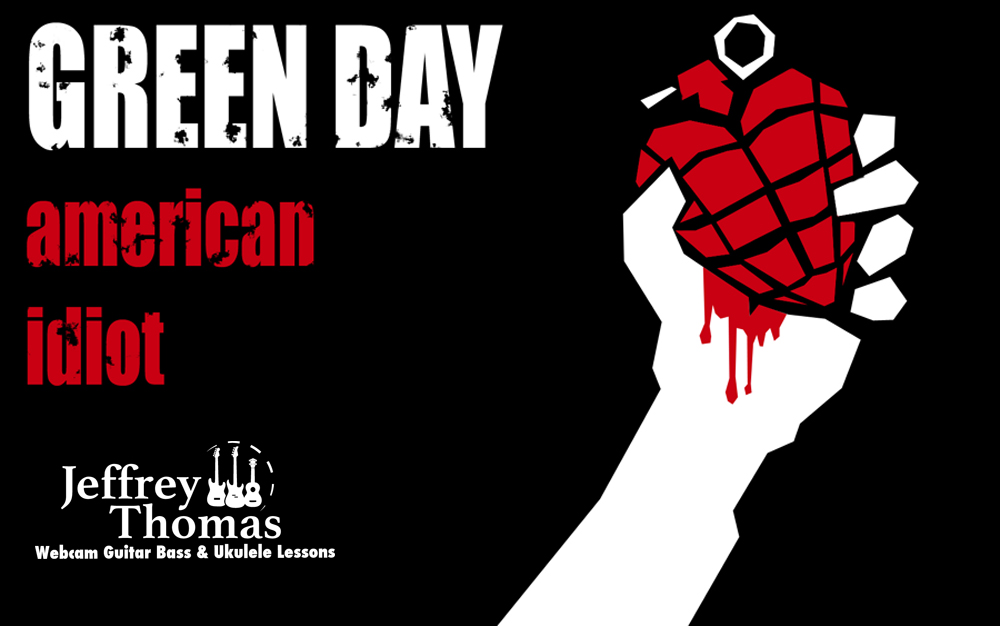 green day american idiot free video guitar lesson by
