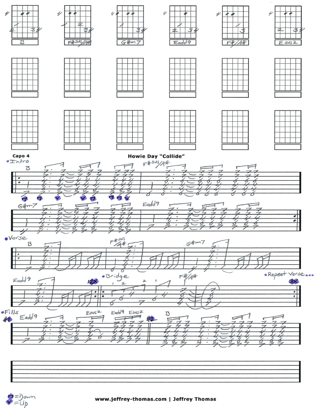 Free Howie Day Guitar Tab