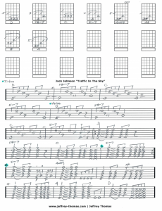 Jack Johnson Traffic In The Sky Guitar Tab
