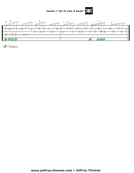 Jessie J Free Guitar Tab by Jeffrey Thomas