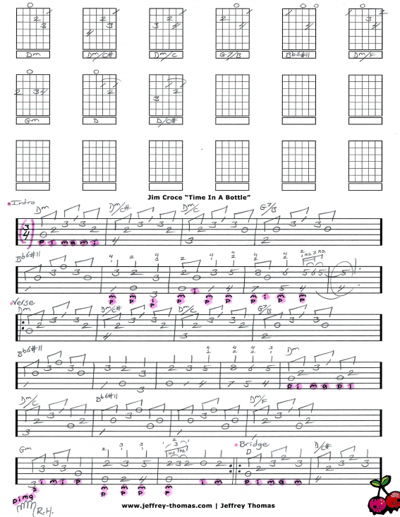 Jim Croce Time In A Bottle Guitar Tab
