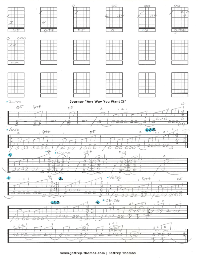 Free Journey Guitar Tab For Any Way You Want It