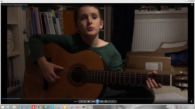 Kids guitar lessons on Skype with Jeffrey Thomas