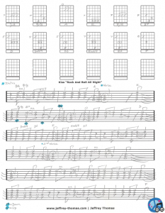 Free guitar tab for Rock And Roll All Night by Kiss