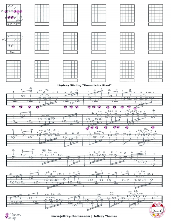 Lindsey Stirling Roundtable Rival Guitar Tab