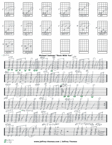 Rock With You by Michael Jackson free guitar tab