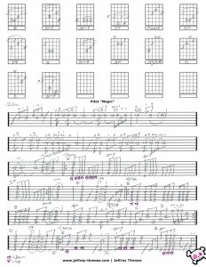 Free Online guitar tab for Magic by Pilot