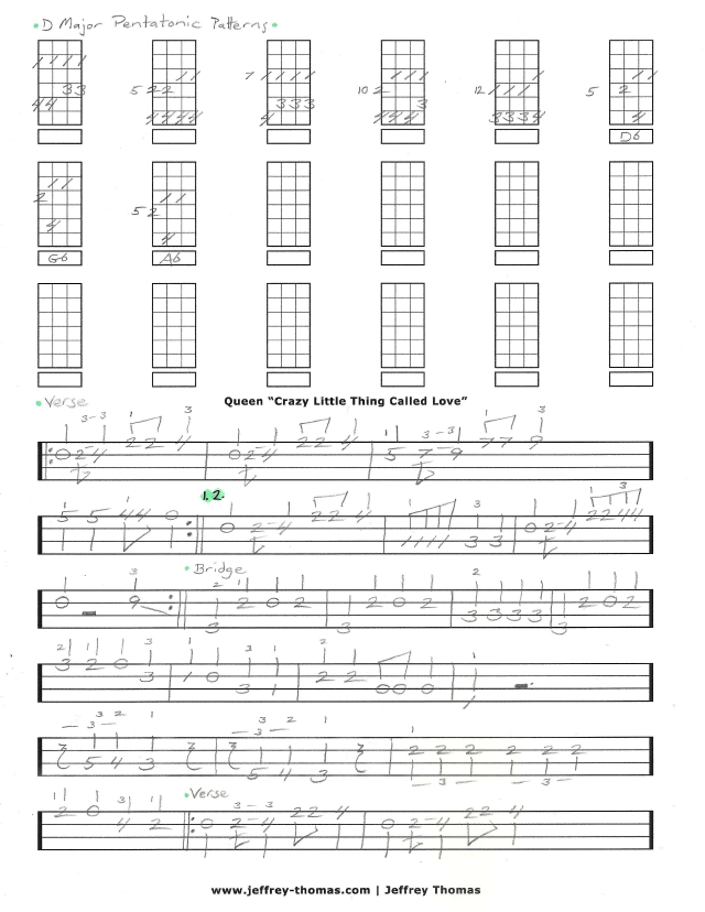 Crazy Little Thing Called Love Bass Tab