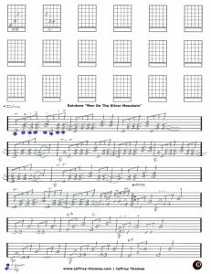 Free guitar tab for Man On The Silver Mountain by Rainbow