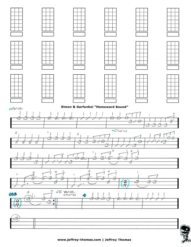 Simon & Garefunkel Free Bass Tab