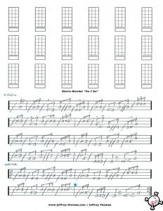 Stevie Wonder Bass Tab