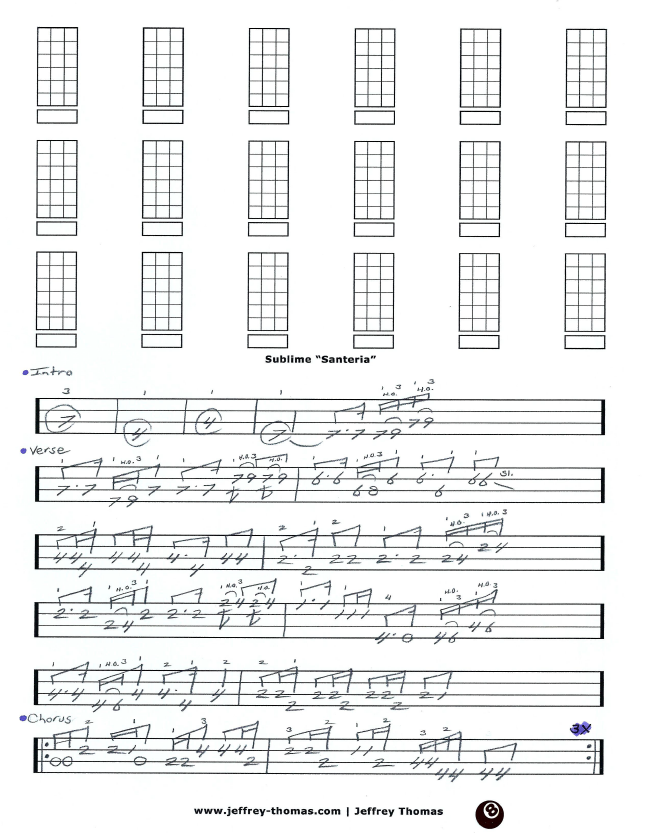 Sublime Bass Tab