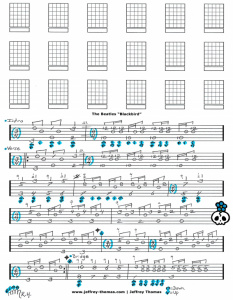 Free guitar tab for Blackbird by The Beatles