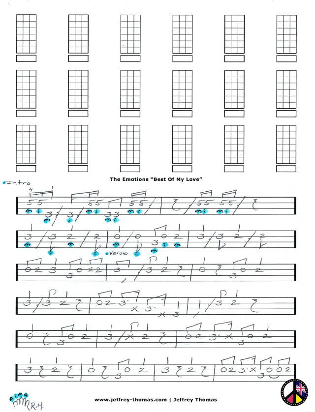 The Emotions Bass Tab