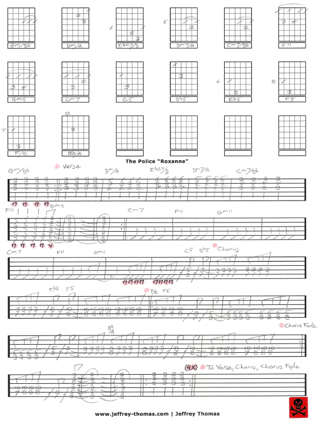 Free Police Guitar Tab For Roxanne