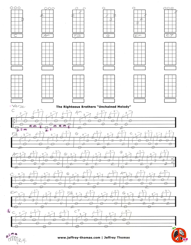 The Righteous Brothers Unchained Melody Free Ukulele Tab
