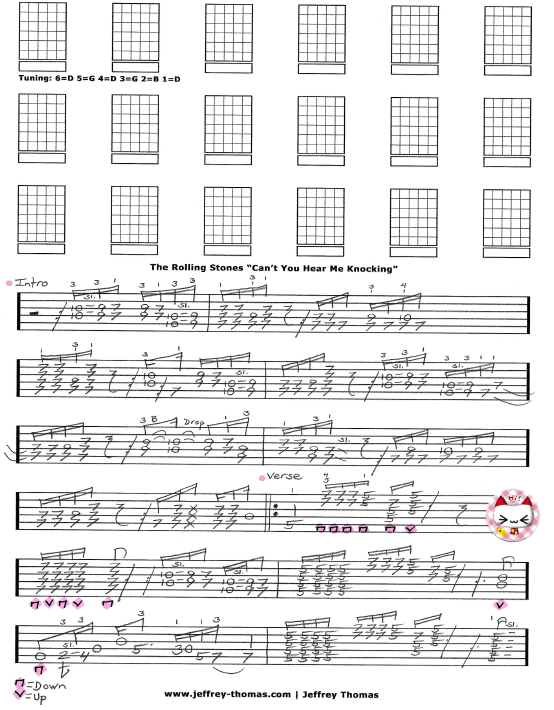 Free Rolling Stones Guitar Tab