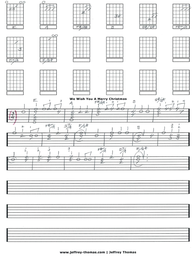 We Wish You A Merry Christmas Guitar Tab