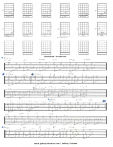 Aerosmith Dream On Free Guitar Tab by Jeffrey Thomas