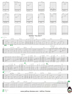 Anarbor You And I Free Guitar Tab by Jeffrey Thomas