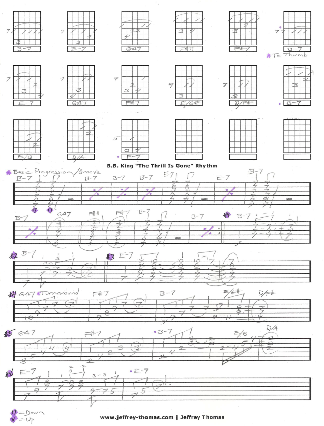 Free B.B. King Guitar Tab
