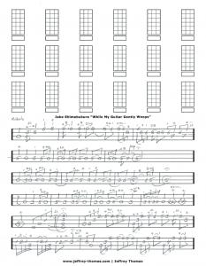 Jake Shimabukuro While My Guitar Gently Weeps Free Ukulele Tab by Jeffrey Thomas