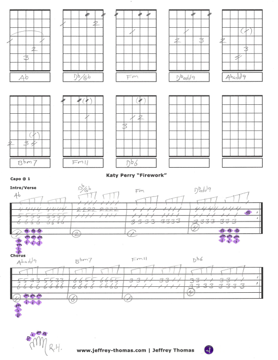 Firework katy perry guitar chords