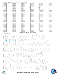 Led Zeppelin Living Loving Maid Free Bass Tab by Jeffrey Thomas