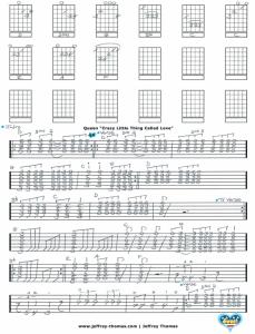Queen Guitar Tab