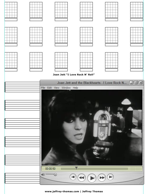 I Love Rock N' Roll Free Guitar Tab by Jeffrey Thomas