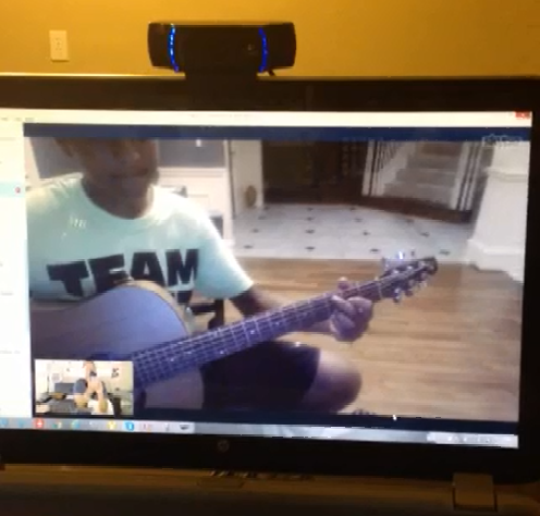 More than words guitar lesson on skype