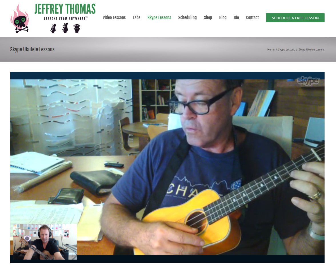 Skype ukulele lessons by Jeffrey Thomas