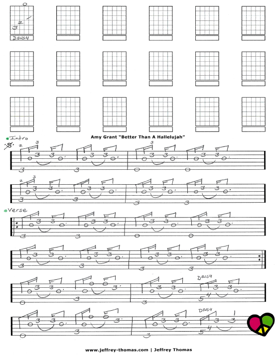 Amy Grant Better Than A Hallelujah Free Guitar Tab