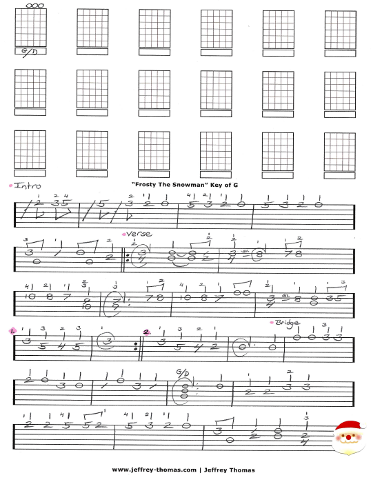 Frosty The Snowman Free Guitar Tab