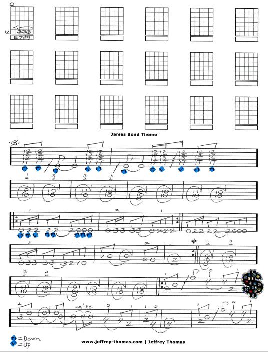 The James Bond Theme Free Guitar Tab