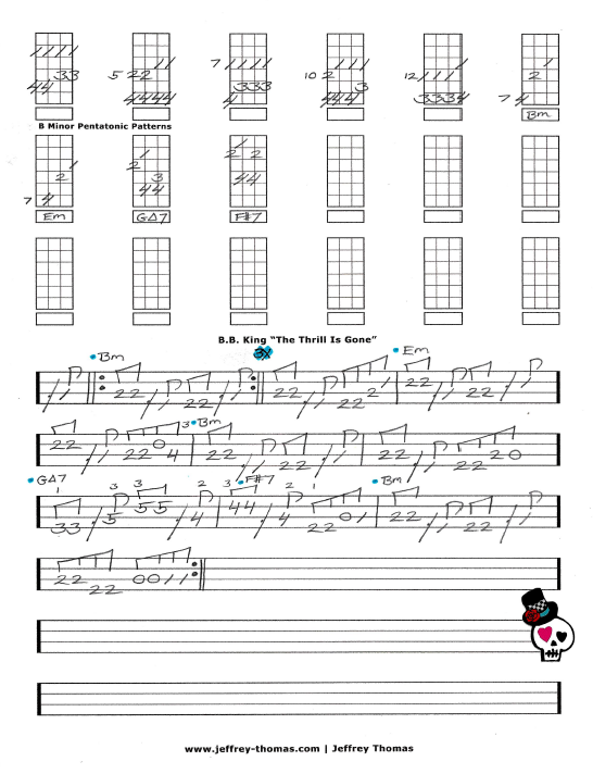 B.B. King The Thrill Is Gone Free Bass Tab