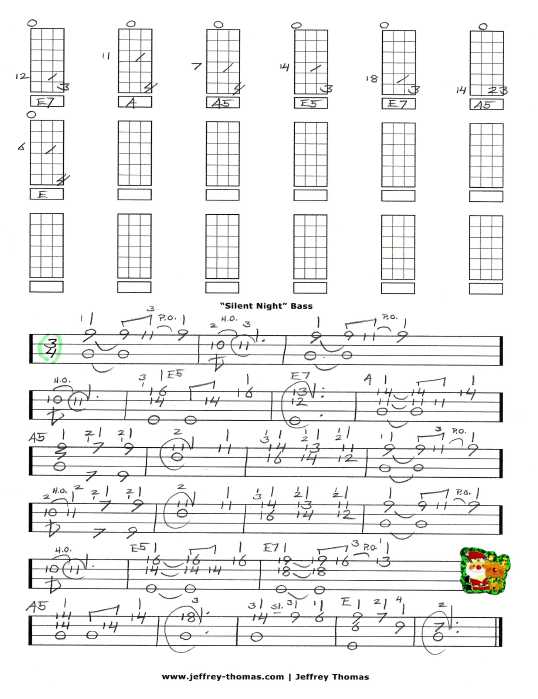 Silent Night Free Bass Tab
