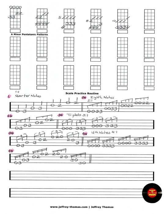 Scale Practice Routine Free Bass Tab