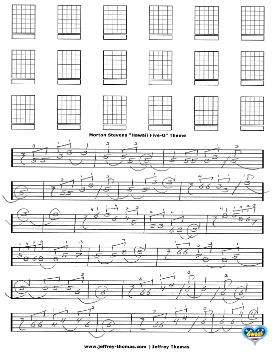 Hawaii Five-O Free Guitar Tab